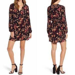 LEITH Floral Faux Wrap Dress S